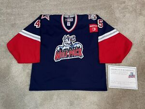 Hartford Wolfpack Game Issued Specialty CCM 97 Throwback Jersey Hellberg 58g