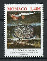 Monaco Architecture Stamps 2020 MNH Terlizzi Ancient Grimaldi Strongholds 1v Set