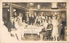 Atlheidelberg Abend Steamer Bremen Party Ship Interior Real Photo PC AA680