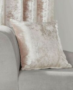 Crushed Velvet Cushion Cover in Blush Pink 45cm x 45cm