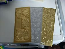 3X STICKERS GOLD/SILVER / BUTTERFLY  23X10 CM NEW (STICKERS527)