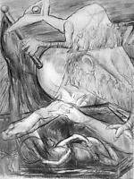 Jacob Epstein Flowers Of Evil (Spleen II) Original Stone Lithograph Mourlot 1940