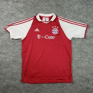 Adidas FC Bayern Munchen Jersey XL T Com Striped Short Sleeve Shirt Soccer Mens