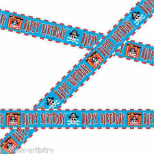 30ft Pirate Red Stripe Birthday Crepe Paper Streamer Decoration