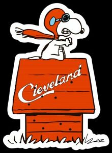MAGNET Cleveland Browns -  Snoopy on the  Doghouse Red Baron Gunner Dawg Pound