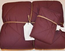 Pottery Barn Teen Solid Comforter Twin With One Standard Sham Burgundy 2 Pc. #30
