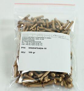 MS20470AD4-10 Rivet / Universalniet - Legierung 2117 per 100 Gramm mit CoC
