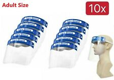 10Pcs Adult Full Safety Shield Reusable Protection Cover Face Eye Cashier Helmet
