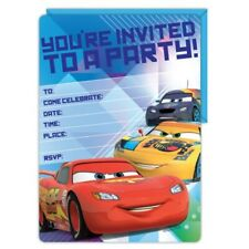 Disney Cars Themed 16 Invitations Envelopes Boys Birthday Party Supplies E2100