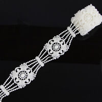 2 Yards 4.6cm Off White Polyester Lace Trim Applique Dress DIY Sewing Crafts