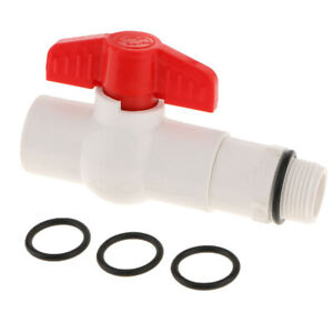 Drum Faucet with 3 Gaskets, 3/4'' Connection, UPVC Material, Straight Type, 25mm