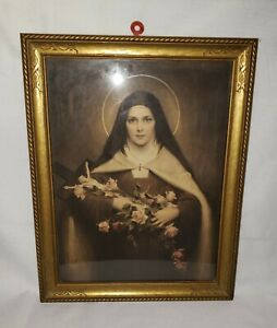 Antique C. Bosseron Chambers  St. Therese Little Flower Framed Print