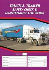 Truck and Trailer Safety Check and Maintenance Log Book Fault Reporting Logbook