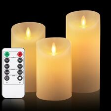 """OShine Flameless Candles,LED Candles Set of 4 5"""" 6"""" H(3.15"""" D) Flickering flame"""