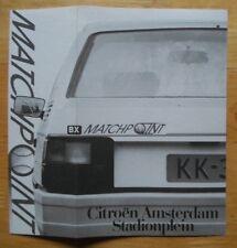 CITROEN BX Matchpoint c1984 Dutch Mkt sales brochure