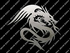 DRAGON FIRE -- Metal Medieval Tribal Wall Art Plasma Cut Out Sign Silhouette