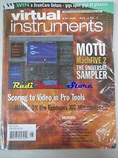 VIRTUAL INSTRUMENTS  Magazine SEALED Mag/2008 The Unioversal Sampler  No cd dvd