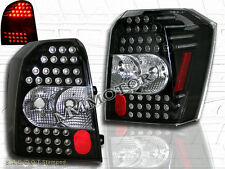 06 07 08-10 DODGE CALIBER LED TAIL LIGHTS BLACK HOUSING