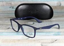 RAY BAN RX7047 5450 Matte Trasp Blue Demo Lens 56 mm Men's Eyeglasses