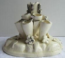 Porte-cigare ou pique-fleur, céramique signée Charles de Boissimont LANGEAIS