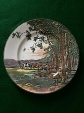 ROYAL DOULTON SERIESWARE RACK PLATE ~ TIMBER WAGON D6307