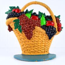 Cast Iron Door Stop Large Colorful Fruit Basket