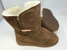 NEW! The Realm Unisex Wool Lined Slip On Winter Boots Brown 143FG tz