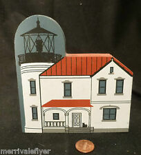 Wood Lighthouse Model Admiralty Head Light Whidbey Island Washington W Folk Art