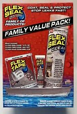 Flex Seal Family Value 3-Item Pack-  Seal 14oz / Tape 4inx5ft / Glue 0.6oz - New