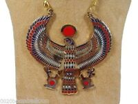 EGYPTIAN HORUS JEWELRY NECKLACE ANKH HUGE XXXL SOLID METAL BRASS HANDMADE EGYPT