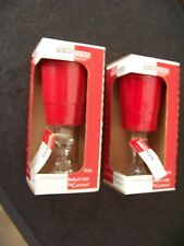 TWO Rednek Party Cup  gag gift red plastic melamine cup glass stem base reusable