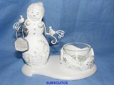 Perfectly Presented Christmas Snowman Friend Tealight Decoration Ornament 77019