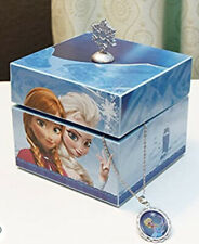 Disney Frozen Music Box Anna & Elsa Let It Go With Elsa Pendant Necklace NEW
