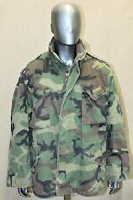 ALPHA INDUSTRIE US ARMY WOODLAND M65 FIELD COLD WEATHER COMBAT JACKET XL REG