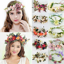 Wedding Big Flower Wreath Crown Headband Floral Garlands Hair band Wholesale HG