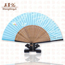 Chinese Silk Hand Held Fan Handmade Wedding Decor Butterfly Painting Art #f213