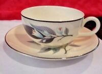 rhythm Homer Laughlin M64N6 Cup & Saucer Set 3 cups 3 saucers