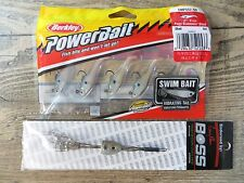 BOSS MINI ALABAMA RIG WITH BERKLEY POWER BAIT PRERIGGED SWIM BAITS - CRAPPIE