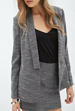 Forever 21   Women's Natural Contemporary Classic Tweed Blazer, L