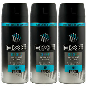 Axe Déodorant Ice Chill 3 x 150 ML 48h Frais Spray Pour Homme Corps
