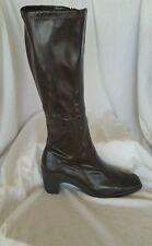 Aerosoles NEW 11 M Sawfish Dark Brown Knee High Square toe Stretch Boots