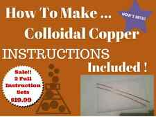 Colloidal Copper Pure -wire Generator Wires rods with Instructions. Bonus 2 pack