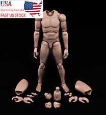 US 1/6 Scale Male Body Flexible Figure Model Doll Caucasian Skin Tone MX02-A Toy