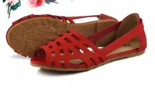 Khoee Fashion Sandals for Women TF-71B (Red)  SIZE 38
