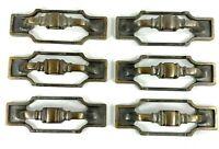 6 Vintage Amerock Brass Copper 235-1 Drawer Pulls Handles Hardware Selvedge Knob