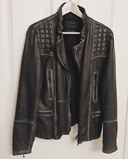 All Saints Men's leather jacket limit edition. Extra Small.