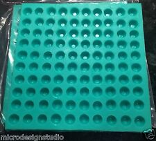 100-3D Faceted Cavities Gem Jewel Maker Food Grade Silicon Mold - Rhinestone