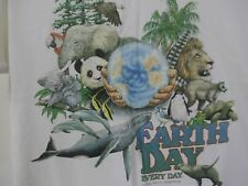 VTG EARTH DAY EVERY DAY NWF CAMPAIGN HARLEQUIN WHITE T-SHIRT MEN'S XL