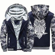 Hooded Sweatshirt Fleece Thick Animal Print Men Sport Harajuku Tracksuit AU