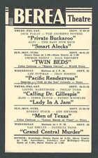 1942 BEREA THEATRE OH SHOWING CALLING DR GILLESPIE W/L BARRYMORE & P DORN ETC